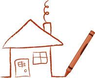 crayon-tecknat-hus-8278954